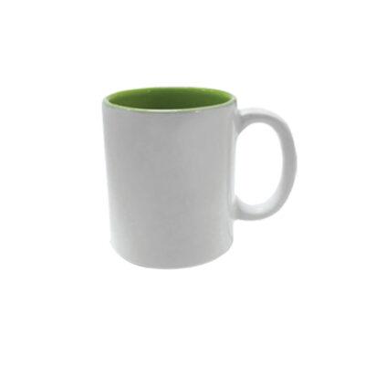 Caneca reta com interior colorido – verde