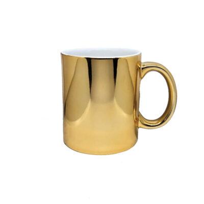 Caneca Cromada – dourada