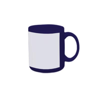 Caneca reta 300ml – azul escura com tarja branca