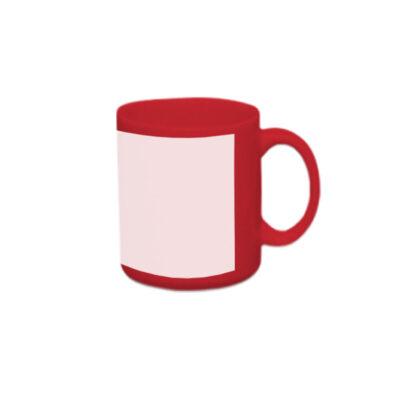 Caneca reta 300ml – vermelha com tarja branca