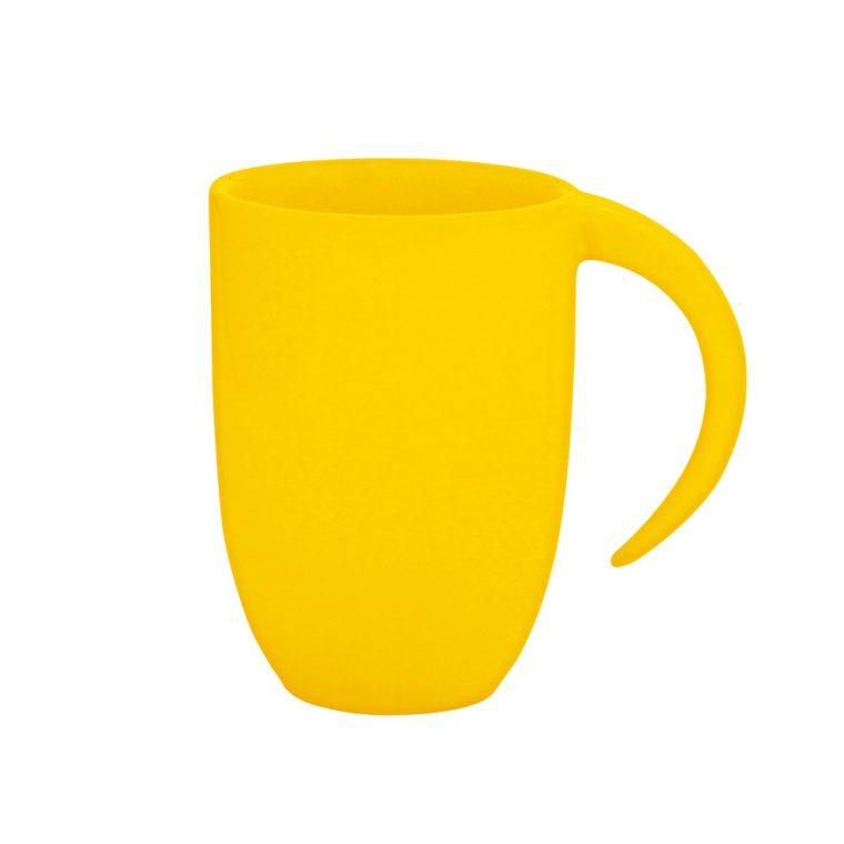 Texto: Caneca amarela Fall para sublimação.