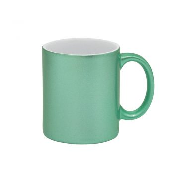 Caneca Glitter – verde azulado