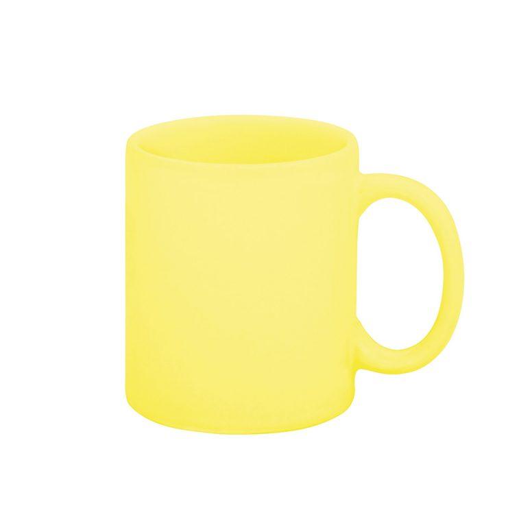 Texto: Caneca reta amarela AZ10 para sublimação.