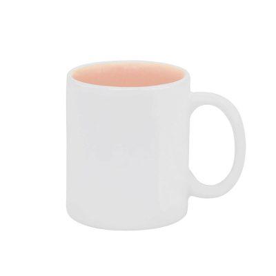 Caneca reta com interior colorido – rosa