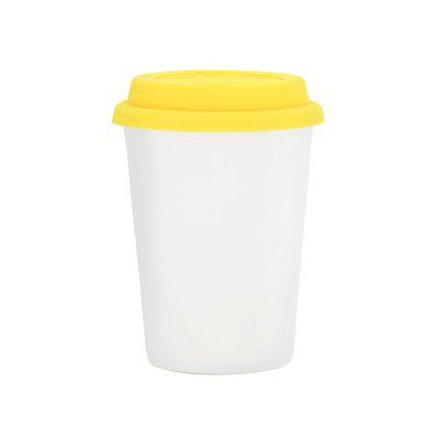 Copo Trip branco 300 ml – tampa amarela