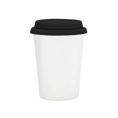 Copo Trip branco 300 ml – tampa preta