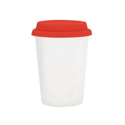 Copo Trip branco 300 ml – tampa vermelha